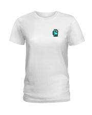 Cyan Among Us  Ladies T-Shirt thumbnail