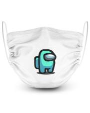 Cyan Among Us  2 Layer Face Mask - Single thumbnail