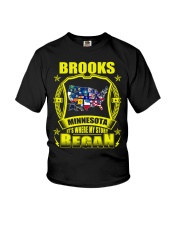 Brooks-MN American map Shirt Youth T-Shirt thumbnail