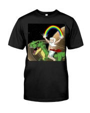 God Rides A T-Rex In Space Premium Fit Mens Tee thumbnail