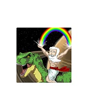 God Rides A T-Rex In Space Square Magnet thumbnail