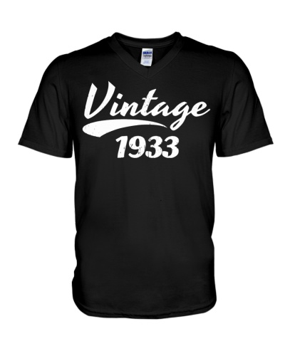 86TH BIRTHDAY T-SHIRT GIFT VINTAGE 1933 DESIGN