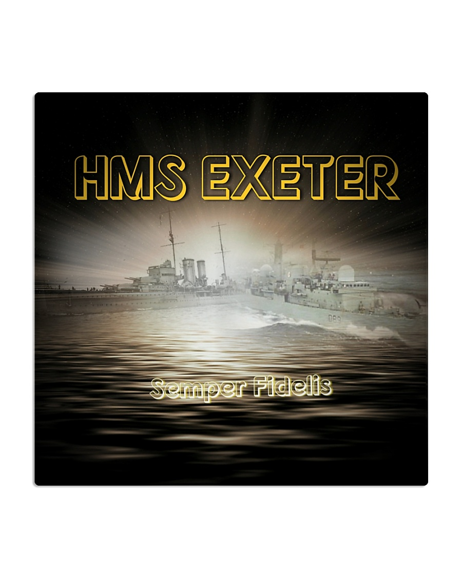 HMS EXETER Drink Coasters Square Coaster