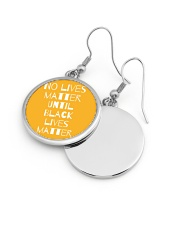 No Lives Matter Until Black Lives Matter Circle Earrings aos-earring-circle-front-lifestyle-10