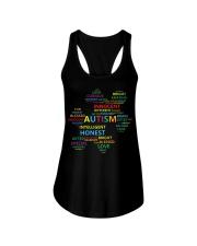 Puzzle piece autism Ladies Flowy Tank thumbnail