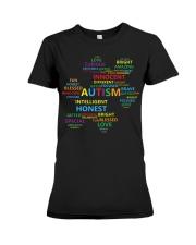 Puzzle piece autism Premium Fit Ladies Tee thumbnail