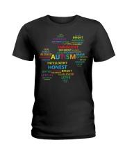 Puzzle piece autism Ladies T-Shirt thumbnail