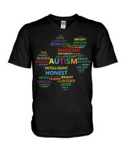 Puzzle piece autism V-Neck T-Shirt thumbnail