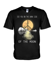 guitar moonight hippie V-Neck T-Shirt thumbnail