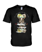 Elephant autism awareness  V-Neck T-Shirt thumbnail