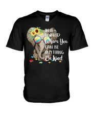 Elephant autism awareness be anything be kind V-Neck T-Shirt thumbnail