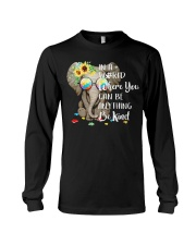 Elephant autism awareness be anything be kind Long Sleeve Tee thumbnail