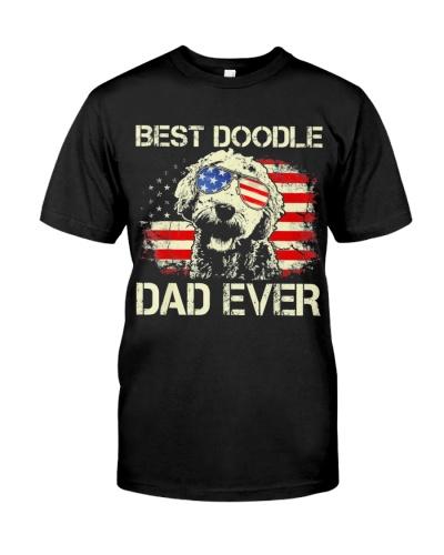 Mens Best Doodle Dad Ever Shirt Us Flag T Shirt 4T