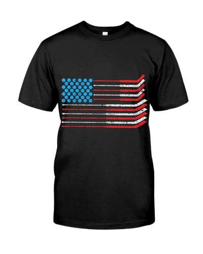 American Flag Patriotic 4Th Of July Hockey T Shirt
