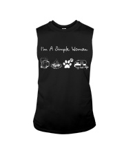 I'm A Simple Woman Beer Campfire Dog Camp Sleeveless Tee thumbnail