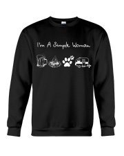 I'm A Simple Woman Beer Campfire Dog Camp Crewneck Sweatshirt thumbnail