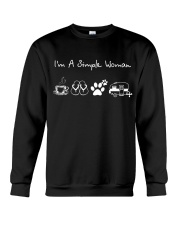 I'm A Simple Woman Coffee Flip-flops Dog Camp Crewneck Sweatshirt tile