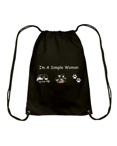 I'm A Simple Woman Camp Wine Dog