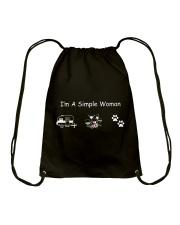 I'm A Simple Woman Camp Wine Dog Drawstring Bag thumbnail