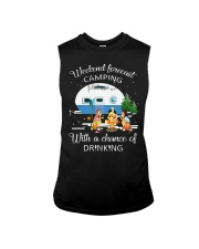 Weekend Forecast Camping With A Chance Of Drinking Sleeveless Tee thumbnail