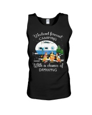 Weekend Forecast Camping With A Chance Of Drinking Unisex Tank thumbnail