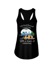 Weekend Forecast Camping With A Chance Of Drinking Ladies Flowy Tank thumbnail