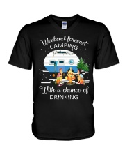 Weekend Forecast Camping With A Chance Of Drinking V-Neck T-Shirt thumbnail