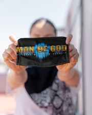 Man Of God  Cloth face mask aos-face-mask-lifestyle-07