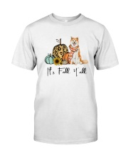 Dog Fall Akita Classic T-Shirt front