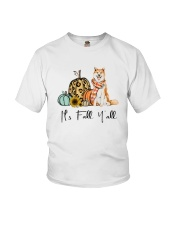 Dog Fall Akita Youth T-Shirt thumbnail