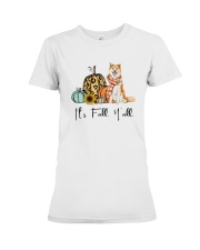 Dog Fall Akita Premium Fit Ladies Tee thumbnail
