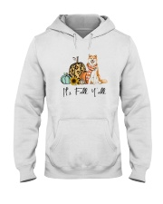 Dog Fall Akita Hooded Sweatshirt thumbnail