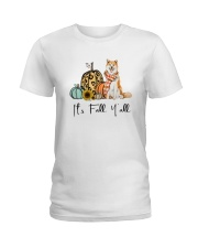 Dog Fall Akita Ladies T-Shirt thumbnail