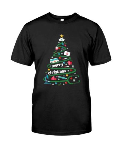 Nurse pine tree funny Merry Christmas nurse