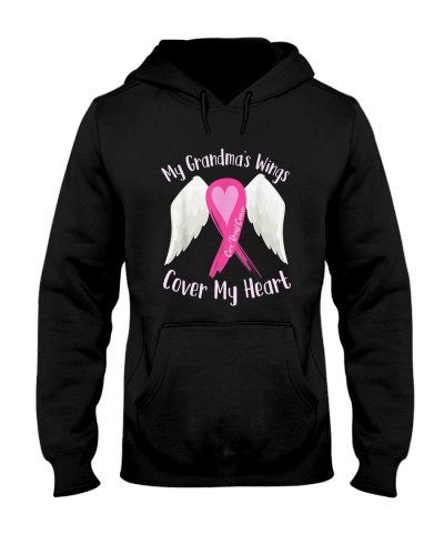 Breast Cancer My Grandma's Wings Cover My