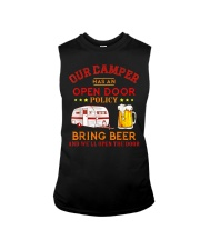 Our Camper Has An Open Door Policy Sleeveless Tee thumbnail