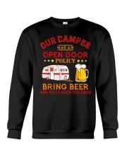 Our Camper Has An Open Door Policy Crewneck Sweatshirt thumbnail