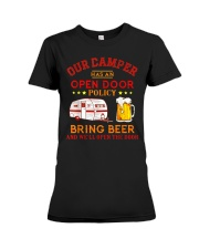 Our Camper Has An Open Door Policy Premium Fit Ladies Tee thumbnail