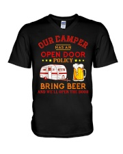 Our Camper Has An Open Door Policy V-Neck T-Shirt thumbnail
