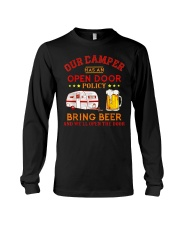 Our Camper Has An Open Door Policy Long Sleeve Tee thumbnail