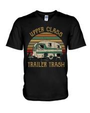 Upper Class Trailer Trash V-Neck T-Shirt thumbnail