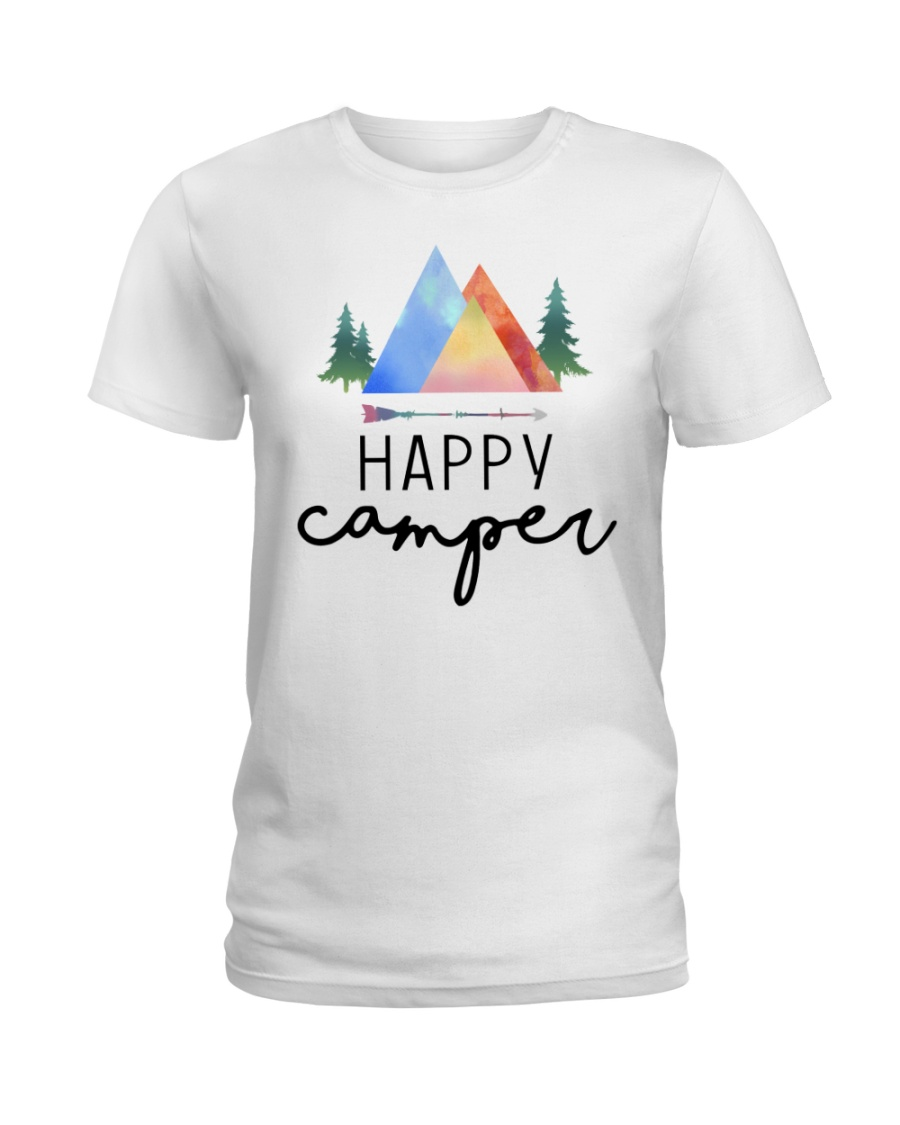 Happy Camper Ladies T-Shirt