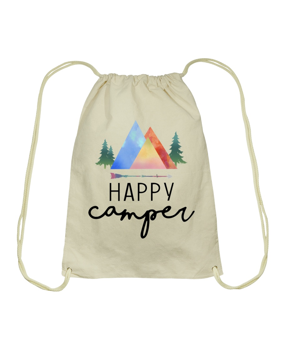 Happy Camper Drawstring Bag