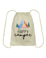 Happy Camper Drawstring Bag front
