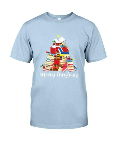 Reading Books Tree Librarian Nerd Christmas