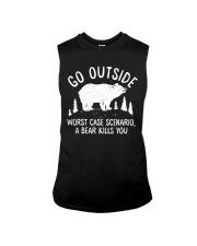 Go Outside Worst Case Scenario A Bear Kills You Sleeveless Tee thumbnail