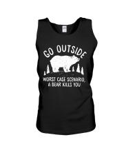 Go Outside Worst Case Scenario A Bear Kills You Unisex Tank thumbnail