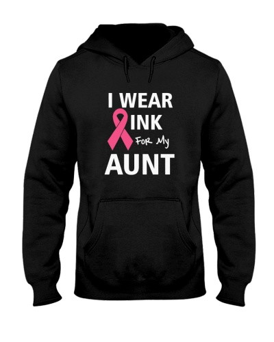 For My Aunt Breast Cancer Pink Ribbon