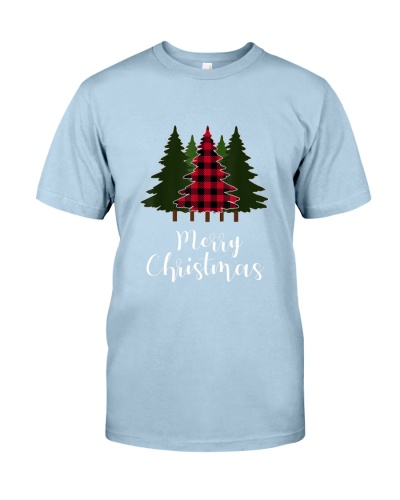 Red Plaid Merry Christmas Letter shirt cute