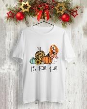Basset Hound Classic T-Shirt lifestyle-holiday-crewneck-front-2